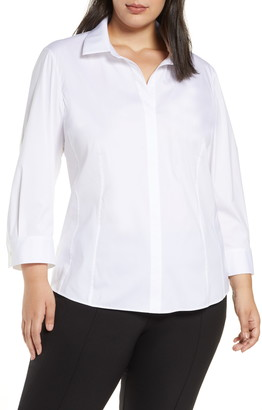 Lafayette 148 New York Katherine Side Zip Shirt