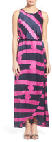 Nic+Zoe New Horizons Print Silk Blouson Maxi Dress