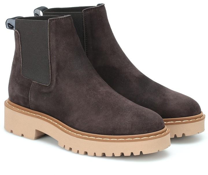 Hogan Suede Chelsea boots