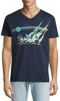 Sol Angeles Moonshadow V-Neck T-Shirt, Indigo