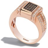 Effy Jewelry Effy Diversa 14K Rose Gold Cognac and White Diamond Ring, 0.81 TCW