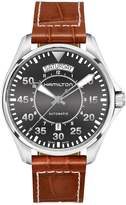 Hamilton Men's Brown Leather Band Steel Case Automatic Watch H64615585