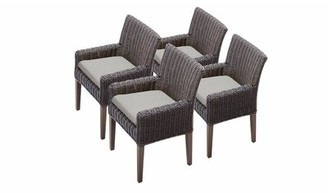 Sol 72 Outdoor Fairfield Patio Dining Chair with Cushion Cushion Color: Ash