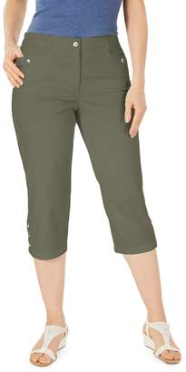 Karen Scott Button Hem Capri Pants