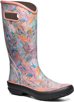 Bogs Marble Print Waterproof Rain Boot