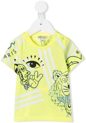 Kenzo Kids logo graphic print T-shirt