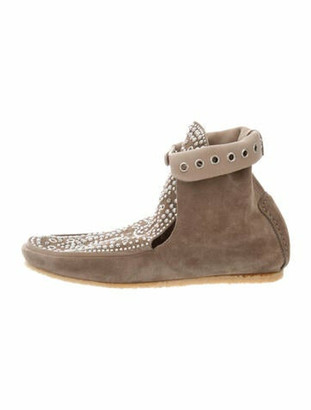 Isabel Marant Suede Studded Accents Lace-Up Boots