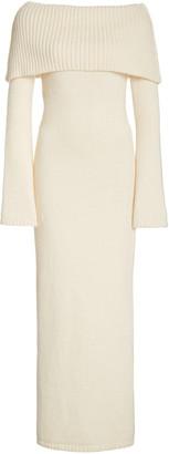 Cult Gaia Mariel Off-The-Shoulder Ribbed-Knit Midi Dress