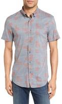 Billy Reid Men's Murphy Standard Fit Short Sleeve Sport Shirt