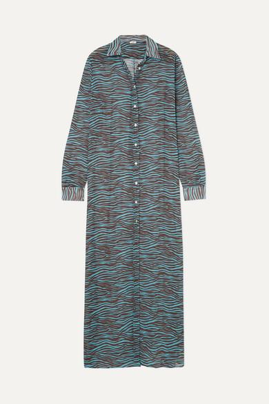 MeDusa ACK Tiger-print Chiffon Maxi Dress - Brown