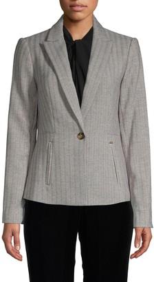 Donna Karan Striped Blazer