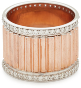 Walters Faith Clive Wide Diamond Fluted Band Ring