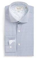 Ted Baker Men's Big & Tall 'Upwood' Trim Fit Geometric Dress Shirt