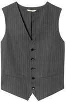 Banana Republic Heritage Charcoal Herringbone Suit Vest