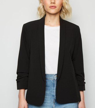 New Look Petite Ruched Sleeve Blazer