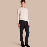 Burberry Modern Fit English Wool Tailored Trousers , Size: 56, Blue