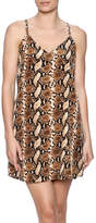 Judith March Snakeskin Shift Dress