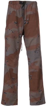 Off-White camouflage logo print trousers