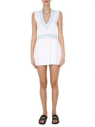 GCDS Contrasting Trim Tennis Dress
