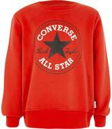 River Island Boys Red Converse front print sweatshirt