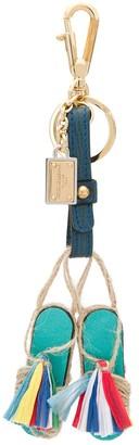 Dolce & Gabbana Straw Flip-Flops Keychain