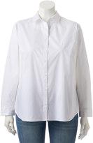 Apt. 9 Plus Size Structured Essential Button-Down Shirt
