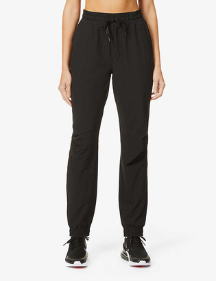 Lorna Jane Slim Fit Active mid-rise stretch-jersey jogging bottoms