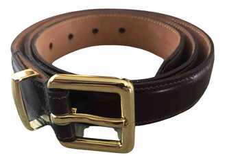 Mulberry Burgundy Patent leather Belts