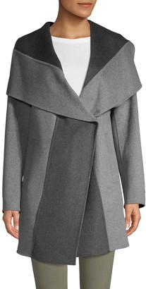 T Tahari Nicky Reversible Wool-Blend Coat