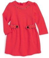 Little Marc Jacobs 'Fancy' Embellished Fit & Flare Dress (Baby Girls)