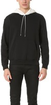 3.1 Phillip Lim Contrast Hood Sweatshirt with Zipper