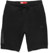 Nike - Slim-fit Cotton-blend Tech-fleece Shorts