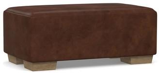 Pottery Barn Sullivan Leather Ottoman