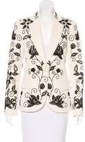 Chloé Embroidered Notched-Lapel Blazer