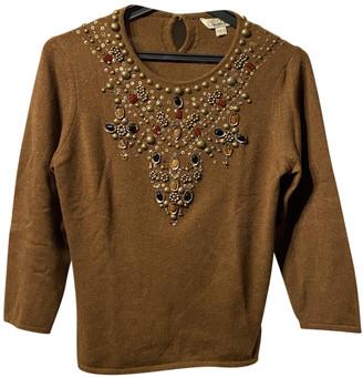 Oscar de la Renta Brown Cashmere Knitwear