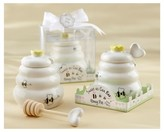 "Kate Aspen Sweet As Can Bee"" Ceramic Honey Pot with Wooden Dipper (Set of 12)"