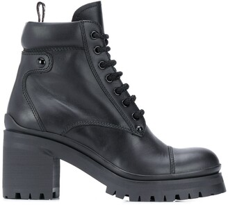 Miu Miu Military-Style Ankle Boots