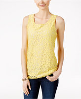 Charter Club Sleeveless Lace Top, Only at Macy's