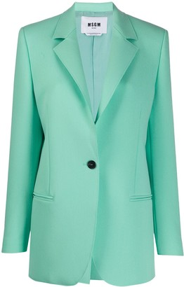 MSGM Single Button Blazer