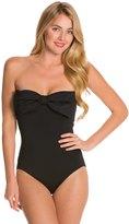 Kate Spade Georgica Beach Classic Bow Bandeau One Piece Swimsuit 8126539