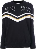 Victoria Victoria Beckham appliqué swan sweatshirt