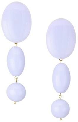 Lele Sadoughi 14K Goldplated Bubble Triple Drop Earrings