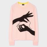 Paul Smith Women's Pink Merino Wool Sweater With 'Shadow Bunny' Intarsia