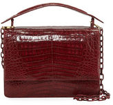 Nancy Gonzalez Crocodile Top-Handle Bag w/Chain Strap