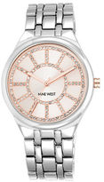 Nine West Crystal Round Dial Quartz Watch