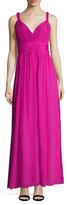 Rachel Zoe Bellamy Silk Gathered Maxi Dress