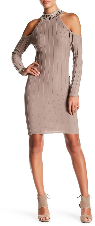 Wow Couture Pleated Bodycon Dress