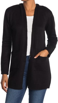 Love by Design Solid Mossy Hooded Cardigan