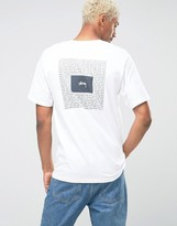 Stussy T-shirt With Ying Yang Back Print
