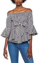 House of Holland Women's Cotton Off the Shoulder Top Blouse